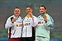 (L to R) Krisztian Pars (HUN), Koji Murofushi (JPN), Primoz Kozmus (SLO),AUGUST 29, 2011 - Athletics :The 13th IAAF World Championships in Athletics - Daegu 2011, Men's Hammer Throw Final at the Daegu Stadium, Daegu, South Korea. (Photo by Jun Tsukida/AFLO SPORT) [0003]