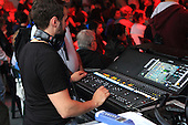 A music technician at the control panel during a show at the Montreal International Jazz festival