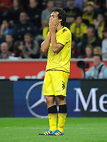 FUSSBALL   1. BUNDESLIGA   SAISON 2011/2012    4. SPIELTAG Bayer 04 Leverkusen - Borussia Dortmund              27.08.2011 Mats HUMMELS (Dortmund) ist enttaeuscht
