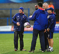 Bath Rugby coach Barry Maddocks looks on during the pre-match warm-up. European Rugby Challenge Cup match, between Cardiff Blues and Bath Rugby on December 10, 2016 at the Cardiff Arms Park in Cardiff, Wales. Photo by: Patrick Khachfe / Onside Images