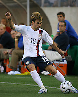 Bobby Convey sends in a cross. USA (0) vs Morocco (1), May 23, 2006, at The Coliseum in Nashville, Tenn.