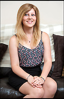 BNPS.co.uk (01202 558833)<br /> Pic: TomWren/BNPS<br /> <br /> Lauren Green (17) wears her new wig which is made from her mum Jo's hair.<br /> <br /> Hair today, her's tomorrow!<br /> <br /> A doting mum has 'baldly' gone where no mother has gone before - shaving her head to make her alopecia-suffering daughter a special wig.<br /> <br /> Jo Green, 41, grew her hair for three years so she would have enough to make daughter Lauren, 17, a hair-raising gift to say thank you for everything the teenager has done to help her.<br /> <br /> Lauren was just eight years old when her hair started falling out and she went from having a full head of long, blonde locks to being completely bald in just three days.<br /> <br /> Despite this Jo says Lauren has never complained and has always tried to help others.