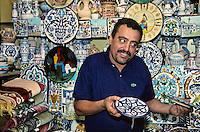 Ceramics Vendor,  Tunis Medina.
