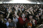 Indio, Ca- A joyful crowd cheers as Australian rock band       'Wolfmother' arrives on stage at Coachella Valley Music and Arts Festival,Saturday April 29 2006.