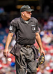 15 September 2013: MLB Umpire Jeff Nelson stands at home plate between innings of a game between the Washington Nationals and the Philadelphia Phillies at Nationals Park in Washington, DC. The Nationals took the rubber match of their 3-game series 11-2 to keep their wildcard postseason hopes alive. Mandatory Credit: Ed Wolfstein Photo *** RAW (NEF) Image File Available ***