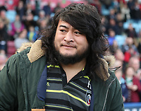 Leicester Tigers&rsquo; Logovi'i Mulipola<br /> <br /> Photographer Rachel Holborn/CameraSport<br /> <br /> Anglo-Welsh Cup Final - Exeter Chiefs v Leicester Tigers - Sunday 19th March 2017 - The Stoop - London<br /> <br /> World Copyright &copy; 2017 CameraSport. All rights reserved. 43 Linden Ave. Countesthorpe. Leicester. England. LE8 5PG - Tel: +44 (0) 116 277 4147 - admin@camerasport.com - www.camerasport.com