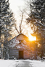 Jan. 22, 2013; Log Chapel in winter..Photo by Matt Cashore/University of Notre Dame