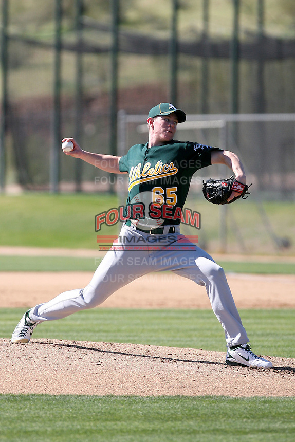Murphy Smith, Oakland Athletics 2010 minor league spring training..Photo by:  Bill Mitchell/Four Seam Images.