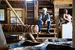 Brinsley Tyrrell, artist, in his Ravenna, Ohio, studio.