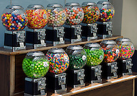 Gum Ball Machines, Candy, Green Red, Blue, Green flavors