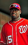 24 May 2009: Washington Nationals' shortstop Cristian Guzman walks the dugout prior to a game against the Baltimore Orioles at Nationals Park in Washington, DC. The Nationals rallied to defeat the Orioles 8-5 and salvage one win of their interleague series. Mandatory Credit: Ed Wolfstein Photo