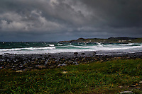 Stormy weather on the coast of Jæren, Norway.