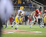 LSU cornerback Ron Brooks (13) returns an interception for a touchdown against Ole Miss at Vaught-Hemingway Stadium in Oxford, Miss. on Saturday, November 19, 2011.