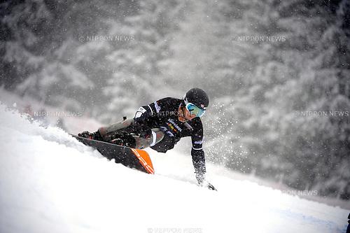 Kohei Kawaguchi (JPN), DECEMBER 16, 2014 - Snowboarding : FIS Snowboard World Cup Men's Parallel Giant Slalom in Carezza, Italy. (Photo by Hiroyuki Sato/AFLO) [2016]