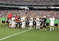 Players of D.C. United and of A.C.Milan during an international friendly match at RFK Stadium, on May 26 2010 in Washington DC. United won 3-2.