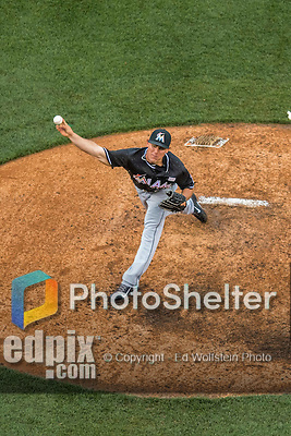 14 May 2016: Miami Marlins pitcher Nick Wittgren on the mound during the first game of a double-header against the Washington Nationals at Nationals Park in Washington, DC. The Nationals defeated the Marlins 6-4 in the afternoon matchup.  Mandatory Credit: Ed Wolfstein Photo *** RAW (NEF) Image File Available ***