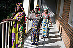 BUKAVU, DEMOCRATIC REPUBLIC OF CONGO - OCTOBER 30: Unidentified women walk outside a ward as they are recovering from surgery on October 30, 2007 at Panzi hospital outside Bukavu, DRC. Many of these women has been raped and abused by rebels and government soldiers. About 10 women and girls show up at the hospital every day and Dr. Denis Mukwege, a gynecologist and his staff does up to 20 reconstructive operations every day. He often has to perform complicated surgery to reproductive and digestive parts of the women. The DRC conflict has seen an unprecedented high rate of rape and sexual abuse of women. The culprits are both different rebel groups and government soldiers and very few are punished. About 27,000 sexual assaults were reported in South Kivu province alone in 2006, according to the United Nations. (Photo by Per-Anders Pettersson)