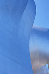 Experience Music Project museum side of structure abstract downtown Seattle Washington State USA