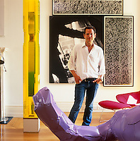 London Art Dealer's Eclectic Home