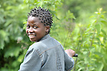A girl in Kaminsamba, Democratic Republic of the Congo.