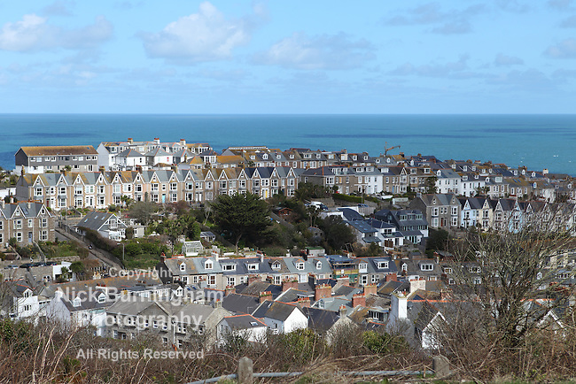 View over St. Ives in Cornwall, UK