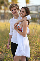 FORT LAUDERDALE FL - APRIL 25: Bailee Madison poses for a portrait with her boyfriend Alex Lange on Fort Lauderdale Beach on April 25, 2017 in Fort Lauderdale, Florida. Credit: mpi04/MediaPunch