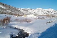 McPolin barn on winter morning.