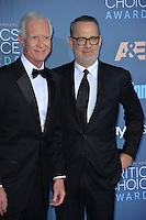 Tom Hanks &amp; Chesley Sullenberger at the 22nd Annual Critics' Choice Awards at Barker Hangar, Santa Monica Airport. <br /> December 11, 2016<br /> Picture: Paul Smith/Featureflash/SilverHub 0208 004 5359/ 07711 972644 Editors@silverhubmedia.com