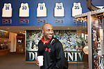 December 14, 2012. Durham, North Carolina.. Jay Williams walks through the Duke men's basketball hall of fame. His jersey, #22, was retired after he helped lead the Blue Devils to a NCAA National Championship in 2001. . Jay Williams, a former point guard for the Chicago Bulls, is now a college basketball analyst for ESPN. Williams was a freshman all american at Duke University and helped lead the Blue Devils to a NCAA National Championship in 2001. . After being drafted in 2002 to the Chicago Bulls, he played one season in the NBA before his basketball career was ended by a serious motorcycle accident which nearly took his life.
