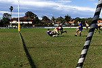 Rugby Ken Williams 64yrs playing his 900th rugby game at concord his team on the way to scoring a try