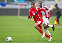 CARSON, CA - March 25, 2012: Anibal Godoy (20) of Panama during the Panama vs Trinidad & Tobago match at the Home Depot Center in Carson, California. Final score Panama 1, Trinidad & Tobago 1.
