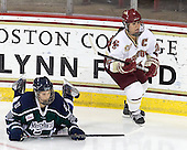 Caroline Luczak (Mercyhurst - 26), Mary Restuccia (BC - 22) - The Boston College Eagles defeated the visiting Mercyhurst College Lakers 4-2 (EN) on Friday, December 9, 2011, at Kelley Rink/Conte Forum in Chestnut Hill, Massachusetts.