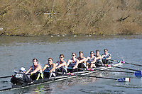 029 IM1.8+ Staines..Reading University Boat Club Head of the River 2012. Eights only. 4.6Km downstream on the Thames form Dreadnaught Reach and Pipers Island, Reading. Saturday 25 February 2012.