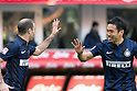 "(L-R) Rodrigo Palacio, Yuto Nagatomo (Inter), FEBRUARY 23, 2014 - Football / Soccer : Yuto Nagatomo of Inter celebrates their goal during the Italian ""Serie A"" match between Inter Milan 1-1 Cagliari at Stadio Giuseppe Meazza in Milan, Italy. (Photo by Enrico Calderoni/AFLO SPORT)"