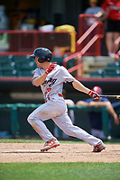Reading Fightin Phils second baseman Scott Kingery (25) at bat during a game against the Erie SeaWolves on May 18, 2017 at UPMC Park in Erie, Pennsylvania.  Reading defeated Erie 8-3.  (Mike Janes/Four Seam Images)