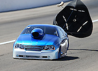 Apr 11, 2015; Las Vegas, NV, USA; NHRA top sportsman driver Phil Dion during qualifying for the Summitracing.com Nationals at The Strip at Las Vegas Motor Speedway. Mandatory Credit: Mark J. Rebilas-