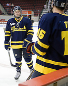 Fraser Allen (Merrimack - 2) - The visiting Merrimack College Warriors tied the Boston University Terriers 1-1 on Friday, November 12, 2010, at Agganis Arena in Boston, Massachusetts.