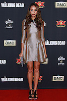 UNIVERSAL CITY, CA, USA - OCTOBER 02: Amber Stevens arrives at the Los Angeles Premiere Of AMC's 'The Walking Dead' Season 5 held at AMC Universal City Walk on October 2, 2014 in Universal City, California, United States. (Photo by David Acosta/Celebrity Monitor)