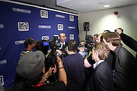 CommissionerDon Garber giving a media interview. MLS Superdraft 2009 held at Convention and Visitors Center, St Louis , MO January 15 2009.