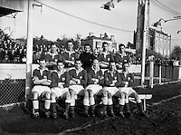 Soccer - St Patrick's Athletic vs Cork at Chapelizod, Dublin.13/02/1955