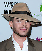 LOS ANGELES, CA, USA - OCTOBER 14: Adam Lambert arrives at the Marco Marco: Collection Three 2015 Runway Presentation held at the Viviana Cathedral on October 14, 2014 in Los Angeles, California, United States. (Photo by Xavier Collin/Celebrity Monitor)