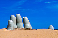 """the Hand"" a famous sculpture in ""Punta del este"" Uruguay"
