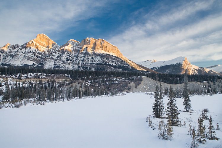 Sunrise in Banff National park in March