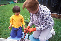 Intergenerational Gardening Stock Images Photography