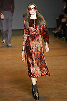 Jacquelyn Jablonski walks runway in an outfit from the Marc by Marc Jacobs Fall/Winter 2011 collection, during New York Fashion Week, Fall 2011.