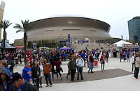 Events at Champion Square before 79th Sugar Bowl game at Mercedes-Benz Superdome in New Orleans, Louisiana on January 2nd, 2013.   Louisville Cardinals defeated Florida Gators, 33-23.