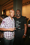 """Jumoke Mendez and NBA Hall of Fame Member Earl """"The Pearl"""" Monroe - Arrivals: New Premium Lounge Signed by INDASHIO Men's Collection Fashion Show at AUDI FORUM, NY  9/13/11"""