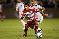 FC Dallas midfielder David Ferreira moves towards the goal on his way to scoring 2 goals on the evening. FC Dallas defeated the LA Galaxy 3-0 to win the Western Division 2010 MLS Championship at Home Depot Center stadium in Carson, California on Sunday November 14, 2010.