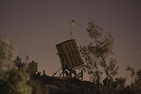"Iron Dome battery near Jerusalem, Sunday, Sept. 8, 2013. The Israeli military has deployed an ""Iron Dome"" missile defense battery in the outskirts of Jerusalem. Israel is concerned that Syria, or a group allied with the regime like Hezbollah in Lebanon, could launch missiles at Israel if the U.S. attacks over its alleged use of chemical weapons against civilians. Even though Israel believes it unlikely that Syria will attack the Jewish state, it is making preparations just in case. The Israeli military refused comment, citing operational protocol. Photo by Oren Nahshon"