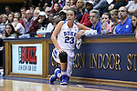 13 November 2016: Duke's Rebecca Greenwell waits at the scorer's table to check into the game. The Duke University Blue Devils hosted the University of Pennsylvania Quakers at Cameron Indoor Stadium in Durham, North Carolina in a 2016-17 NCAA Division I Women's Basketball game. Duke defeated Penn 68-55.